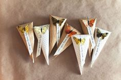 candy bags, paper cones, wrap gifts, butterflies, gift wrapping, butterfli favor, butterfly party, diy gifts, butterfli parti
