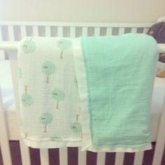 Warm blanket tutorial using swaddle blankets & organic cotton & ribbon. LOVE IT