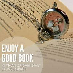 Do you to read? Get an OrigamiOwl Locket to show your story
