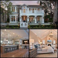 an eastern seaboard-style home with an elegant California beach vibe.