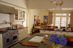 "The real kitchen from the house that the movie ""Somethings Gotta Give"" used. Image from Hooked on Houses."