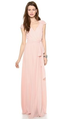 Such a pretty blush dress for your bridesmaids!