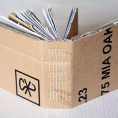 binding for repurposed envelope/mail book