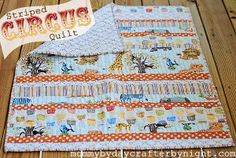 Make your very own circus-themed pattern with the Circus is in Town Quilt tutorial.