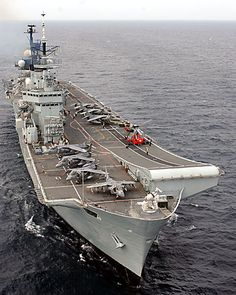 The Royal Navy Ark Royal Class Aircraft Carrier. The mighty flagship of the Royal Navy has now been decommissioned leaving the fleet without a carrier until the replacement, expected 2020, is ready.