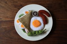 Knitted Food II by ruth and johnny, london uk, via Flickr