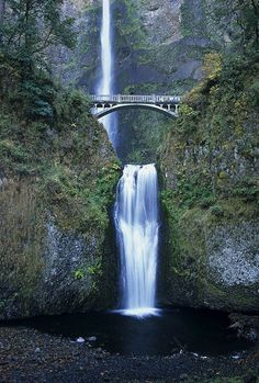 East of Portland in the Columbia River Gorge is Multnomah Falls - the tallest waterfall in Oregon and the fourth tallest in the United States.