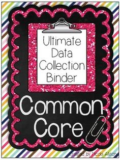 Ultimate Data Collection Binder for SLPs - Common Core Aligned