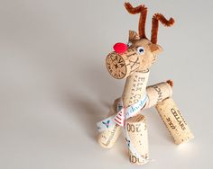 Wine Cork Reindeer  - cute craft with kids