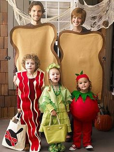 Disfraz familiar de sandwich