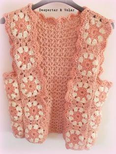 chaleco tejido al crochet chalecos tejidos al crochet, más tejido, tejido al, tejido divertido, chaleco tejido