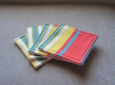 Set of 4 Fabric Coasters  Indoor/Outdoor by BristowTreasures, $12.00