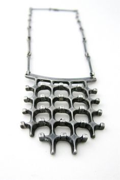 Necklace | Uni David-Andersen and Marianne Berg.  Sterling silver.  ca. 1966, Norway.