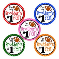 Brother's #1 Fan Football Images for Bottle Caps 4x6