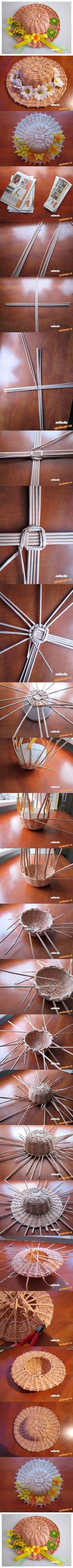 DIY Woven Paper Decorative Hat 2