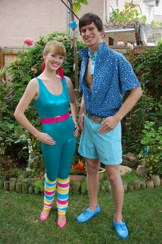 Barbie and Ken costume. That's awesome!