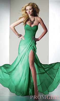 My dress for the military ball.  Minus the Angelina leg.