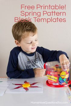 Spring Pattern Block Templates -
