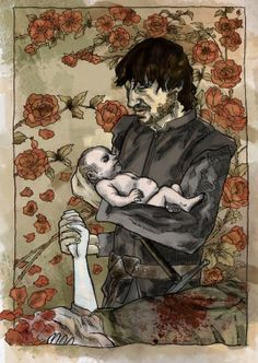 Many readers believe that Jon is not the son of Eddard Stark. Instead, he is the son of Prince Rhaegar Targaryen and Eddard's sister Lyanna. Rhaegar and Lyanna disappeared together to the Tower of Joy early in Robert's Rebellion. There, it's believed, Rhaegar leaves a pregnant Lyanna to defend his family's dynasty. I subscribe to this theory. ---o boy . . . .