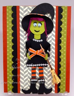 Card: Halloween Punch Art Witch