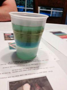 Summer science - build a liquid rainbow