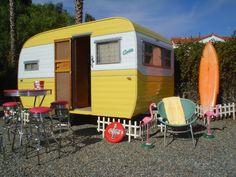 camper trailers, vintage trailers, corvett, dream, beach