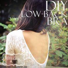 Turn regular bra into a low-back bra!!!
