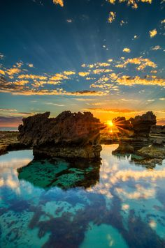The Crags in Port Fairy, Victoria, Australia at Sunset