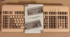 Maxi Touch 124 Key Programmable Keyboard 5 Pin Cord for IBM at PS 2
