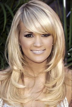 hair colors, layered hairstyles, long hairstyles, layered haircuts, blond, side bangs, carrie underwood, long haircuts, long hair styles