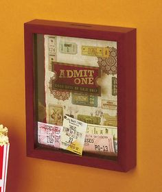 Admit One -  Ticket Memento Storage Box Concert Theatre Movies Sports Home