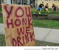 good drinking game... haha