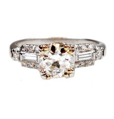 First choice and best buy this price range. Same shape I like but seems to be mostly if not all platinum. Scintillating 1.25 CTW Platinum Art Deco Diamond $3800.00
