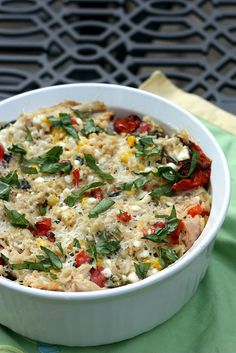 Roasted Summer Vegetable and Rice Casserole