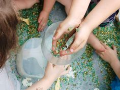 Nice list of touchy feely sensory tub ingredients to try