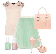 Ted Baker Top| D Skirt| ASOS Bag| Zara Shoes| Essie Figi| Essie Mint Candy Apple