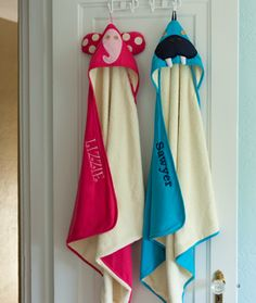 3 Sprouts Elephant and Walrus hooded towels.