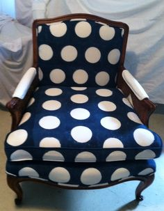 adorable polka dot chair