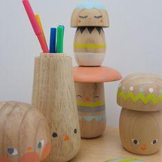 beci orpin mushroom pen pots