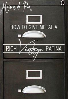 Vintage Patina Tutorial