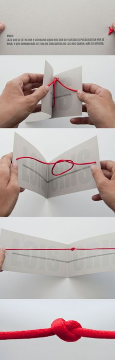 A Unique Wedding Invitation: Tying The Knot ~ Literally
