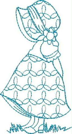 Blue Line Sun Bonnet 1