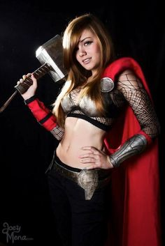Lady Thor Cosplay (Link: http://sexyfandom.com/archives/2013/06/lady-thor-cosplay/) We love crossplay here at the SF, ladies dressing as male characters, men dressing up as ladies. We love it. And this Lady Thor does not disappoint. Weve seen Lady Loki and now shes got some competition. Cosplayer Uxi Parapara created this great Lady Thor, complete with flowing... - Sexy Fandom with Molly Case