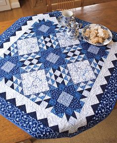 Blue Persuasion Table Topper Kit by Connecting Threads -