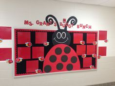 Bulletin board to display the students work. Still in need of her two legs hanging down and a few touch ups.