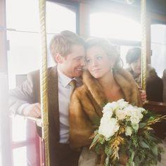 #winterwedding inspiration - photo by Lauren Fair - http://ruffledblog.com/outdoorsy-glam-pennsylvania-wedding/
