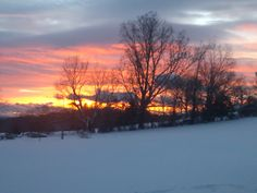 jessica thompson, swoope  Watching the sunset while shoveling. #WHSVsnow