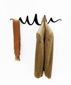 Squiggle Coat Hanger in Black | dotandbo.com