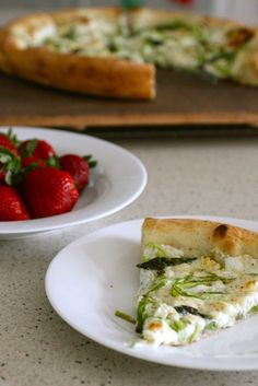 shaved asparagus pizza by annieseats, via Flickr