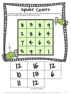 Halloween Math Puzzle from Halloween Math Games, Puzzles and Brain Teasers is a collection of Halloween Math by Games 4 Learning. $